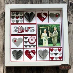Read more about the article DIY Bilderrahmen mit Hochzeitsfoto – Geschenk zu Valentinstag