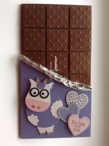 Glückwunschkarte Schokoladentafel