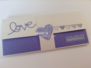 Konzertkartenverpackung LOVE