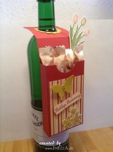 Flaschenanhänger zur Genesung mit Schoki – Kurzanleitung