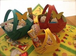 Süßes Osterkörbchen selbst gebastelt