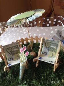 Geldgeschenk Gartenstühle – mit Origami