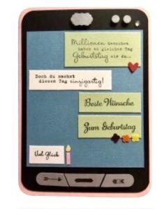 Geldgeschenk für ein Handy – Handykarte mit Kurzanleitung