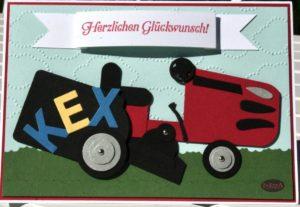 Geburtstagskarte Rasenmäher