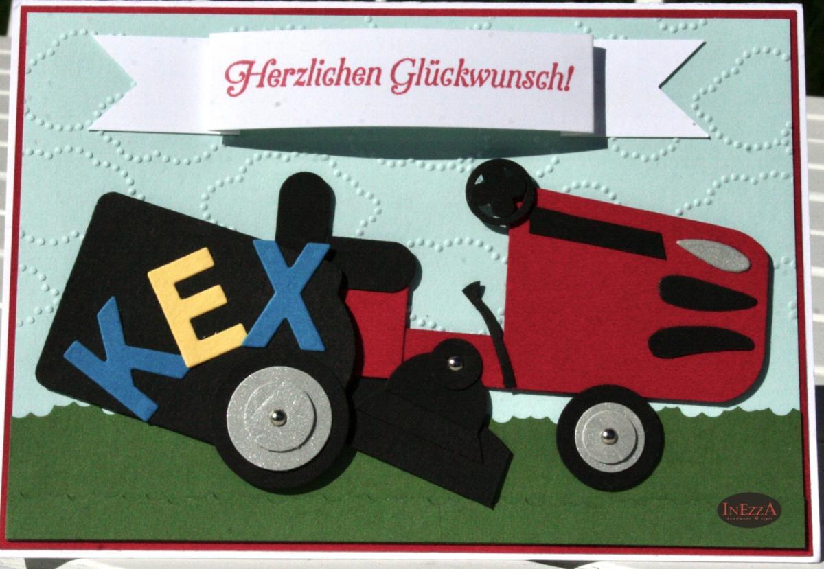 You are currently viewing Geburtstagskarte Rasenmäher
