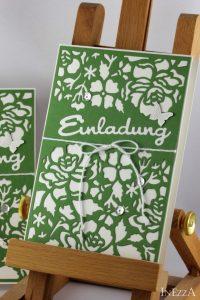 Einladungskarte für Gartenparty – Florale Fantasie