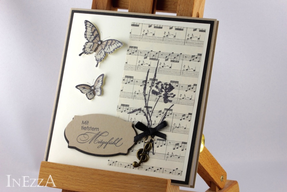 Trauerkarte für Musiker