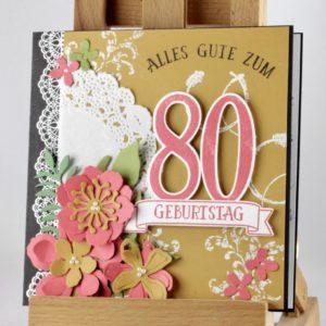 Grußkarte mit großen Zahlen zum 80. Geburtstag