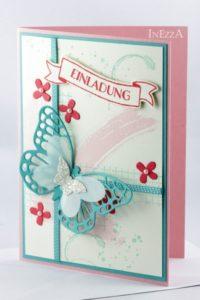 Einladungskarte Schmetterling – mit Anleitung