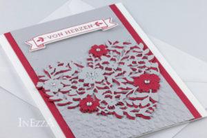 Muttertagskarte mit Thinlits Blühendes Herz – Kurzanleitung zum Nachbasteln