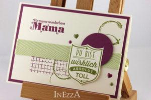 Muttertagskarte mit der Stanze Wappen – mit Anleitung