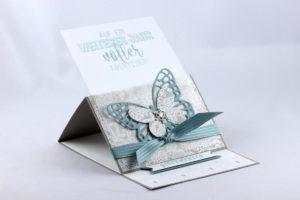 Aufstellkarte zum Geburtstag mit Schmetterling – Variante 1
