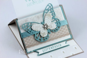 Aufstellkarte zum Geburtstag mit Schmetterling – Variante 2
