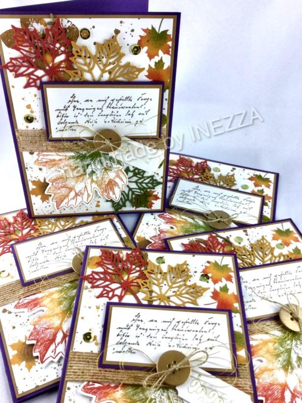 Herbstliche Karten – Auftragsarbeit – Jahr voller Farben