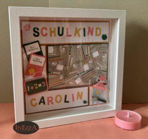 Geschenk zur Einschulung – 3D Bilderrahmen für Mädchen