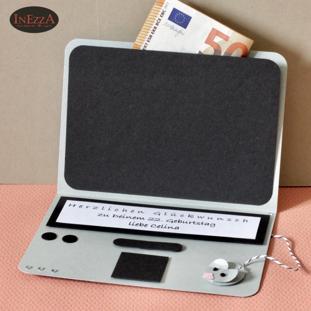Geldgeschenk Mini Laptop Karte