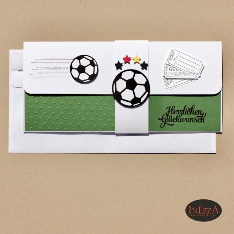 Gutscheinkarte für Fußballticket inn Grün-Weiß